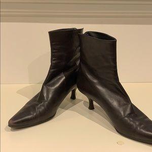 Stuart Weitzman Baron leather ankle boots